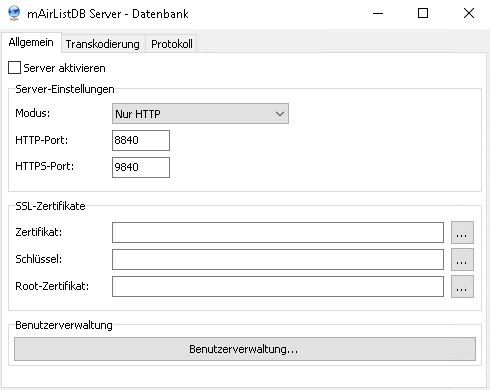 MairlistDB Server
